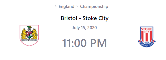 Bristol City vs Stoke City Prediction