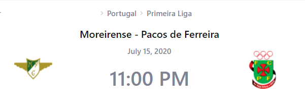 Moreirense vs Pacos de Ferreira Prediction